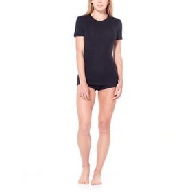 Icebreaker 175 Everyday Crew Top T-shirt Dames, zwart